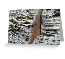 rusted rocks Greeting Card