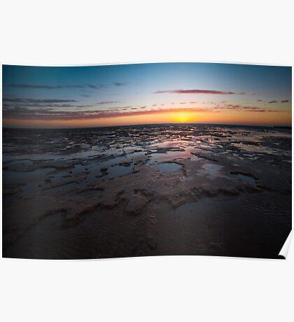 Shark Bay Sunset Poster