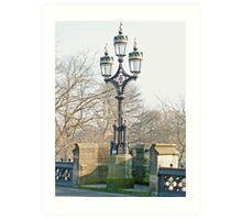 Lanterns On York's Skeldergate Bridge Art Print