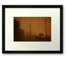0227 - HDR Panorama - Storm and Stacks 3 Framed Print