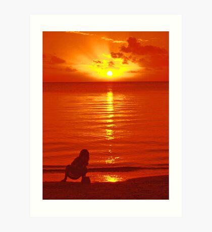 Sunset Point Aux Piments Art Print