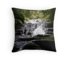 Cascading Silky Curtains Throw Pillow