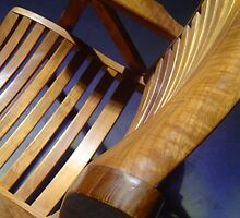 lonely teak chair  by eriartha75