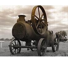 Rusty old engine Photographic Print