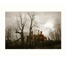 Forboding Morning at Prichard Mansion Art Print