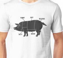 Funny Pig Butcher Chart Diagram Unisex T-Shirt
