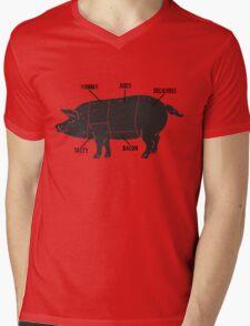 Funny Pig Butcher Chart Diagram Mens V-Neck T-Shirt