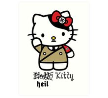 Naughty Kitty Series: Heil Kitty Art Print