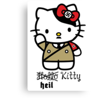Naughty Kitty Series: Heil Kitty Canvas Print