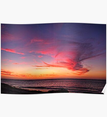 Cloud Monster over Coronation Beach Poster