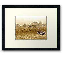 """Humanitarian Mission - Kandahar, Afghanistan"" Framed Print"