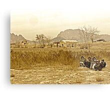 """Humanitarian Mission - Kandahar, Afghanistan"" Metal Print"