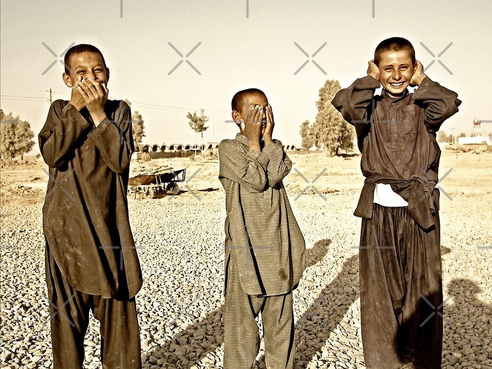 """""""Hear No Evil, See No Evil, Speak No Evil - Kandahar Afghanistan"""" by Omar  Mejia"""