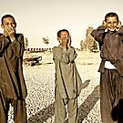 """Hear No Evil, See No Evil, Speak No Evil - Kandahar Afghanistan"" by Omar  Mejia"