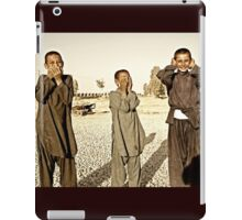 """Hear No Evil, See No Evil, Speak No Evil - Kandahar Afghanistan"" iPad Case/Skin"