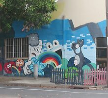 Cartoon StreetArt Melbourne by FXDS