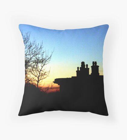 Popings Sun Set Throw Pillow