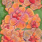 65 - FLOWERS - DAVE EDWARDS - COLOURED PENCILS - 1996 by BLYTHART