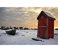 Outhouse Photographic Print