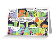 Elvis Presley pop art comic Greeting Card