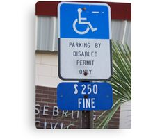 I park here Canvas Print