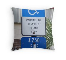 I park here Throw Pillow