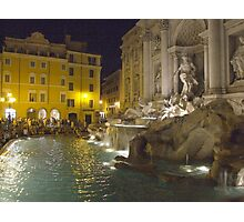 Trevi Fountain at night, Rome Photographic Print