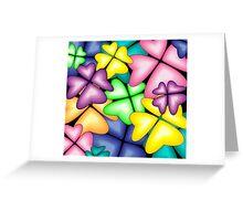 vivid heart flowers Greeting Card