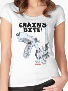 Chains Bite - Dogs Deserve Better Women's Fitted Scoop T-Shirt