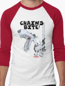 Chains Bite - Dogs Deserve Better Men's Baseball ¾ T-Shirt