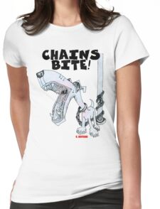 Chains Bite - Dogs Deserve Better Womens Fitted T-Shirt