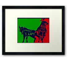 Charro Up Framed Print