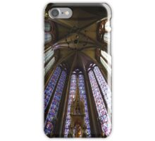 Stained Glass, Amiens Cathedral, France iPhone Case/Skin
