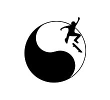 Skateboarding Ying and Yang by Grobie