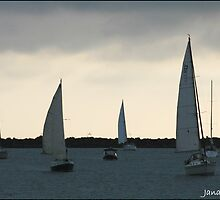 Sail boats by Janaigee