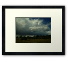 0382 - HDR Panorama - Sky and Trees Framed Print