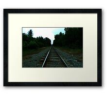 0393 - HDR Panorama - Long Rails Framed Print