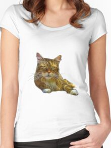 Maine Coon Cat - 3896 Women's Fitted Scoop T-Shirt