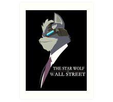 The Star Wolf of Wall Street Art Print