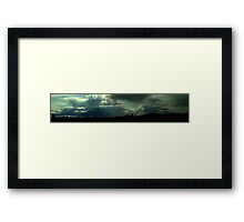 0407 - HDR Panorama - Trees and Sky 2 Framed Print
