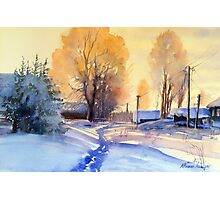 Winter light. Village. Russia Photographic Print
