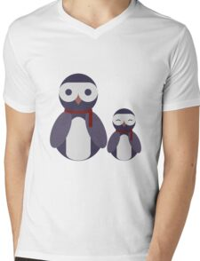 Cool Blu Duo Mens V-Neck T-Shirt