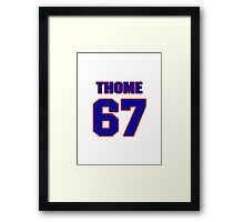 National football player Chris Thome jersey 67 Framed Print