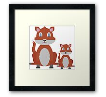 Dune Fox Duo Framed Print