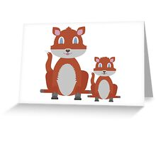 Dune Fox Duo Greeting Card