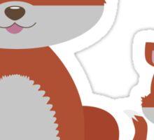 Dune Fox Duo Sticker