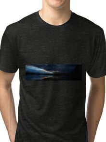 0417 - HDR Panorama - Blue Sunset Tri-blend T-Shirt