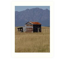 photoj Tas, Country Barn, Mt Roland Art Print