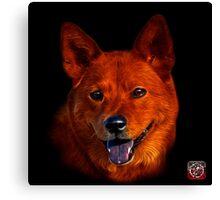 Shiba Inu Dog Art - 8555 Canvas Print