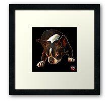 Boston Terrier Dog Art - 8384  Framed Print